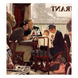 """Saying Grace"", November 24,1951 Giclée-tryk af Norman Rockwell"