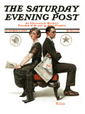 """Election Debate"" Saturday Evening Post Cover, October 9,1920 Reproduction procédé giclée par Norman Rockwell"