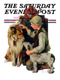 """Making Friends"" or ""Raleigh Rockwell"" Saturday Evening Post Cover, September 28,1929 Reproduction procédé giclée par Norman Rockwell"