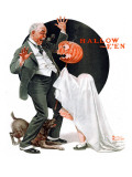 """Halloween"", October 23,1920 Giclee Print by Norman Rockwell"