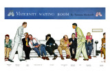 """Maternity Waiting Room"", July 13,1946 Giclee Print by Norman Rockwell"