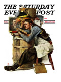 """""""Law Student"""" Saturday Evening Post Cover, February 19,1927 Giclée-Druck von Norman Rockwell"""