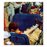 """Travel Experience"", August 12,1944 Reproduction procédé giclée par Norman Rockwell"