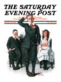 """Recitation"" Saturday Evening Post Cover, June 14,1919 Giclee Print by Norman Rockwell"