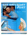 """Two Flirts"" Saturday Evening Post Cover, July 26,1941 Giclee Print by Norman Rockwell"