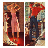 """Before the Date"", September 24,1949 Reproduction procédé giclée par Norman Rockwell"