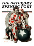 """Between the Acts"" Saturday Evening Post Cover, May 26,1923 Giclee Print by Norman Rockwell"