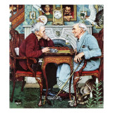 """April Fool, 1943"", April 3,1943 Giclee Print by Norman Rockwell"