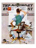 Tela branca, Blank Canvas, capa do Saturday Evening Post, 8 de outubro de 1938 Impressão giclée por Norman Rockwell