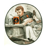 """Mom's Helper"" or ""Peeling Potatoes"", January 29,1921 Giclee Print by Norman Rockwell"