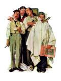 """Barbershop Quartet"", September 26,1936 ジクレープリント : ノーマン・ロックウェル"