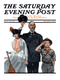 """Salute to Colors"" Saturday Evening Post Cover, May 12,1917 Giclee Print by Norman Rockwell"