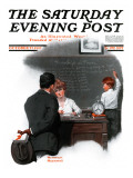 &quot;Knowledge is Power&quot; Saturday Evening Post Cover, October 27,1917 Giclee Print by Norman Rockwell