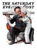 """Setting One's Sights"" or ""Ship Ahoy"" Saturday Evening Post Cover, August 19,1922 Giclee Print by Norman Rockwell"