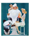 """Full Treatment"", May 18,1940 Giclee Print by Norman Rockwell"