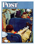 """Travel Experience"" Saturday Evening Post Cover, August 12,1944 Reproduction procédé giclée par Norman Rockwell"