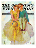 &quot;On Top of the World&quot; Saturday Evening Post Cover, July 11,1936 Giclee Print by Norman Rockwell