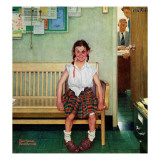 """Shiner"" or ""Outside the Principal's Office"", May 23,1953 Giclee Print by Norman Rockwell"