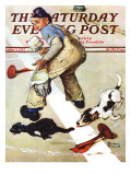 """Spilled Paint"" Saturday Evening Post Cover, October 2,1937 Giclee Print by Norman Rockwell"