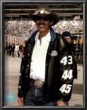 Richard Petty Portrait With Black Leather Jacket Print