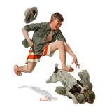 """""""Runaway Pants"""", August 9,1919 Reproduction procédé giclée par Norman Rockwell"""