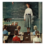 """Happy Birthday, Miss Jones"", March 17,1956 Giclee-trykk av Norman Rockwell"