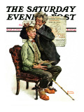 """Phrenologist"" Saturday Evening Post Cover, March 27,1926 Giclee Print by Norman Rockwell"