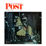 """Armor"" Saturday Evening Post Cover, November 3,1962 Giclee Print by Norman Rockwell"