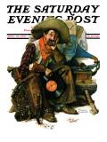 """Dreams of Long Ago"" Saturday Evening Post Cover, August 13,1927 Reproduction procédé giclée par Norman Rockwell"