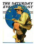 """Contentment"" Saturday Evening Post Cover, August 28,1926 Impression giclée par Norman Rockwell"