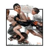 """No Swimming"", June 4,1921 ジクレープリント : ノーマン・ロックウェル"