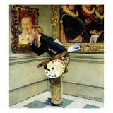 """Art Critic"", April 16,1955 Reproduction procédé giclée par Norman Rockwell"