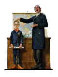 """Schoolmaster"" or ""First in his Class"", June 26,1926 Giclee Print by Norman Rockwell"