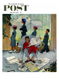 &quot;Sunday Morning&quot; Saturday Evening Post Cover, May 16,1959 Gicl&#233;e-Druck von Norman Rockwell