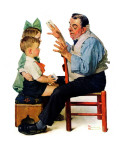 """Magician"" or ""Card Tricks"", March 22,1930 Giclee Print by Norman Rockwell"
