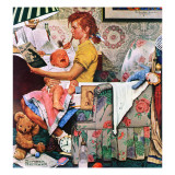 """Baby Sitter"", November 8,1947 Reproduction procédé giclée par Norman Rockwell"