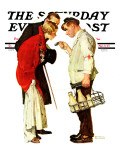 """Partygoers"" Saturday Evening Post Cover, March 9,1935 Reproduction procédé giclée par Norman Rockwell"