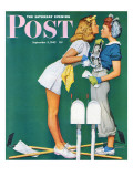 """Double Trouble for Willie Gillis"" Saturday Evening Post Cover, September 5,1942 Reproduction procédé giclée par Norman Rockwell"