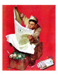 """Willie Gillis on K.P"", April 11,1942 Reproduction procédé giclée par Norman Rockwell"