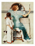 &quot;Going Out&quot;, October 21,1933 Giclee Print by Norman Rockwell
