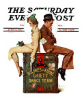 """Gaiety Dance Team"" Saturday Evening Post Cover, June 12,1937 Reproduction procédé giclée par Norman Rockwell"