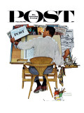&quot;Artist at Work&quot; Saturday Evening Post Cover, September 16,1961 Giclee Print by Norman Rockwell