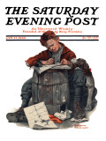"""Pen Pals"" Saturday Evening Post Cover, January 17,1920 Giclee Print by Norman Rockwell"