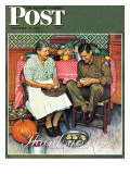 """Home for Thanksgiving"" Saturday Evening Post Cover, November 24,1945 Giclee Print by Norman Rockwell"