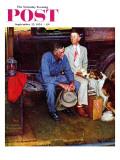 """""""Breaking Home Ties"""" Saturday Evening Post Cover, September 25,1954 Giclee-trykk av Norman Rockwell"""