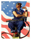 &quot;Rosie the Riveter&quot;, May 29,1943 Giclee Print by Norman Rockwell