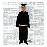 """Graduate"", June 6,1959 Giclee Print by Norman Rockwell"