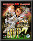 Drew Brees Super Bowl XLIV MVP Posters