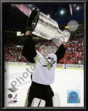 Marc-Andre Fleury Game 7 - 2008-09 NHL Stanley Cup Finals With Trophy Art