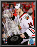 Jonathan Toews with the 2009-10 Stanley Cup Print